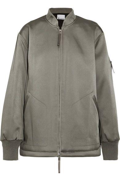 T by Alexander Wang | Oversized satin bomber jacket | NET-A-PORTER.COM