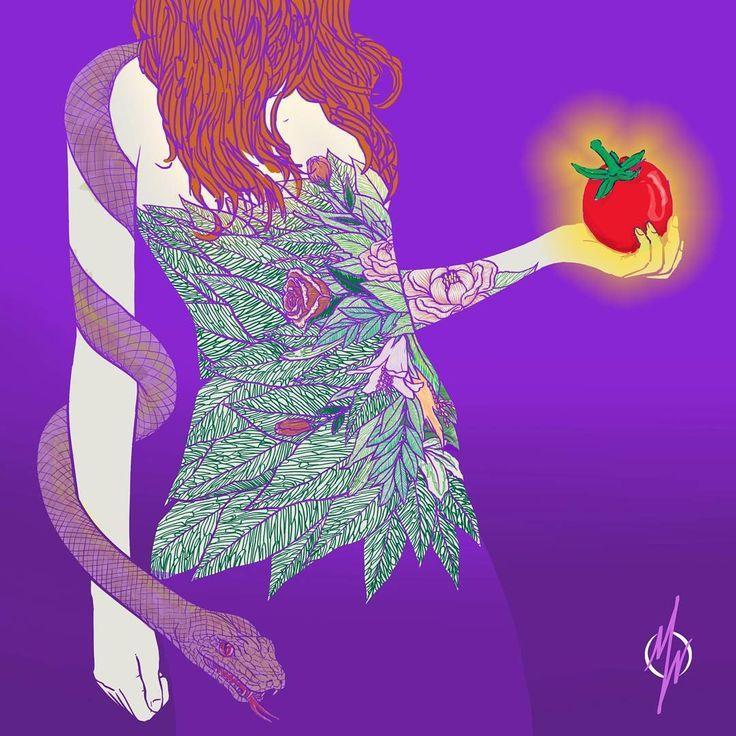 29.06.2016 EVE and the snake (hawwa dan sang ular)  dan di hari itu, saat sang iblis menumpang pada tubuh si ular yang merasa iba pada iblis yang tidak diperkenankan masuk ke taman surga, dan melalui mulut ular yang lidahnya bercabang, sang iblis menunjukkan hawwa pohon dengan buah yang teranum dan segar. iblis tidak iri terhadap adam dan hawwa karena mereka diperkenankan tinggal di surga dalam keabadian. tercukupi semua kebutuhannya. iblis melalui ular sebagai perantaranya sudah digariskan…