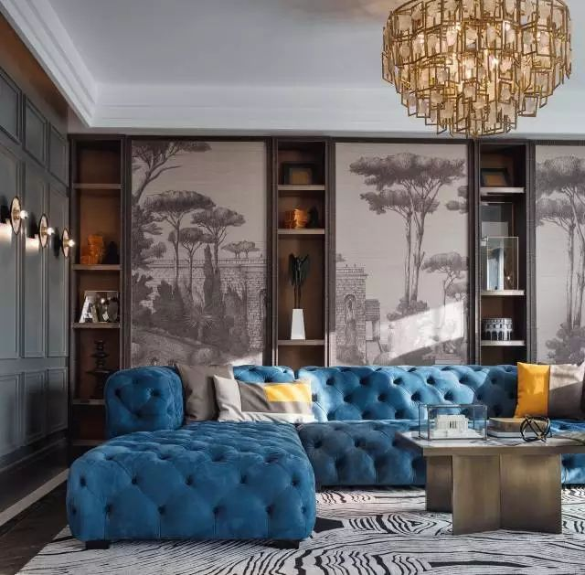 Geothermal Estate Blue Sofa by Source Interior Brand Architecture.