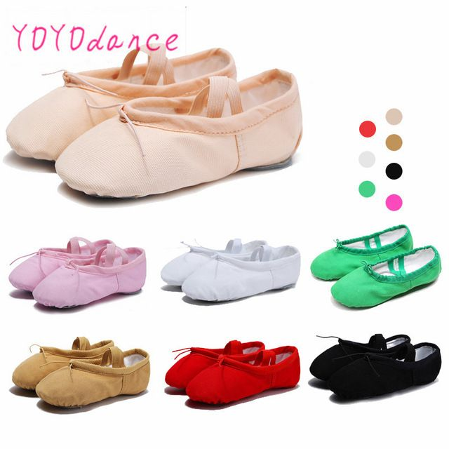 Kids Toddler Girls Soft Split-Sole Canvas Ballet Dance Shoes Slippers Child Pink