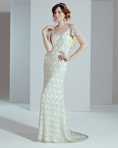 1920's inspired Hermione wedding dress from Phase Eight.