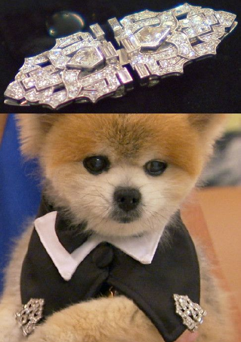 Gentleman Norman looks great in his vintage, art deco, double-clip broach...made of diamonds set in platinum. See him pick it out on Beverly Hills Pawn, on REELZ.