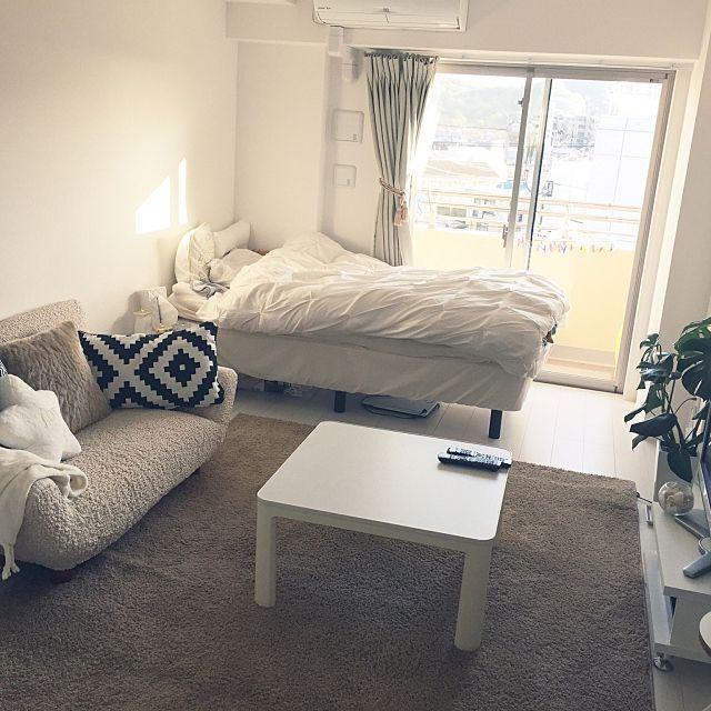 1人暮らしというとどんな部屋のイメージがありますか。スッキリ、スマート、オシャレ……。RoomClip内には、魅了されるような部屋ばかり。1人暮らしで多い1Rや1Kでの部屋を中心に、空間使いのうまさを感じられるすてきインテリアのある部屋を集めてみました。