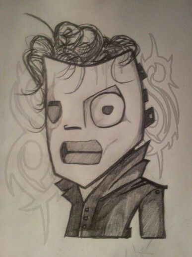 corey taylor 8 drawing i drew slipknot pinterest