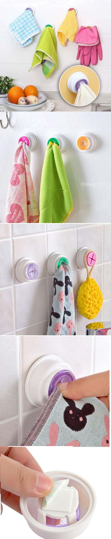 US$2.76 Kitchen Bathroom Detachable Hand Towel Hanger