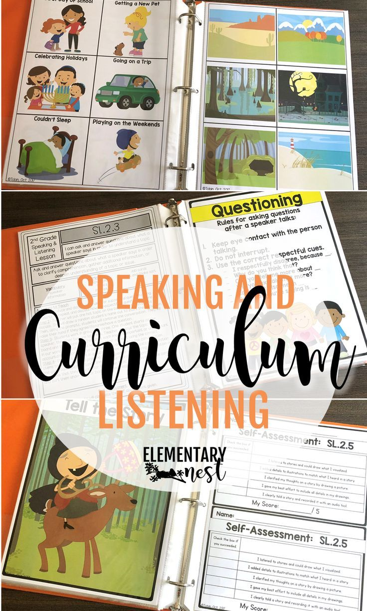 speaking and listening activities for first grade, second grade