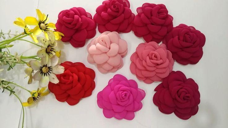Tutorial Gardenia Siffon | How to make Chiffon Roseburn