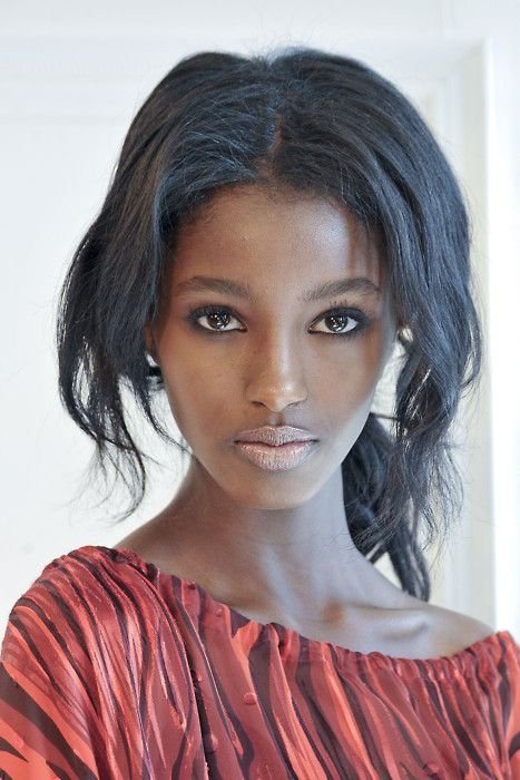 Senait Gidey. Ethiopian Beauty. Signed to IMG. From Toronto, Canada. Goes by Senait and not Senait Gidey. She had people noticing her at NY Fashion Week.