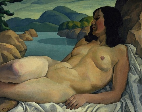 Art Contrarian - Nude in Landscape 1930 by Canadian painter Edwin Holgate 1892 - 1977