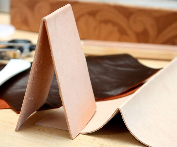 how to make folds in leather