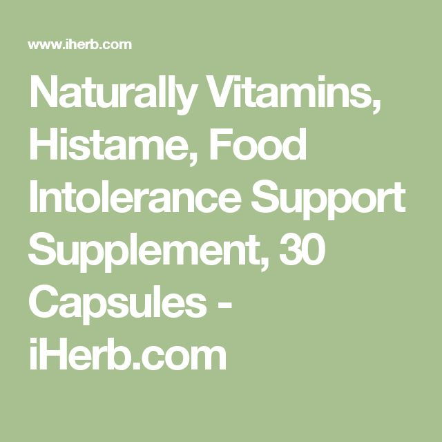 Naturally Vitamins, Histame, Food Intolerance Support Supplement, 30 Capsules - iHerb.com