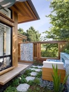 Exotic Tropical Outdoor Shower Design Ideas