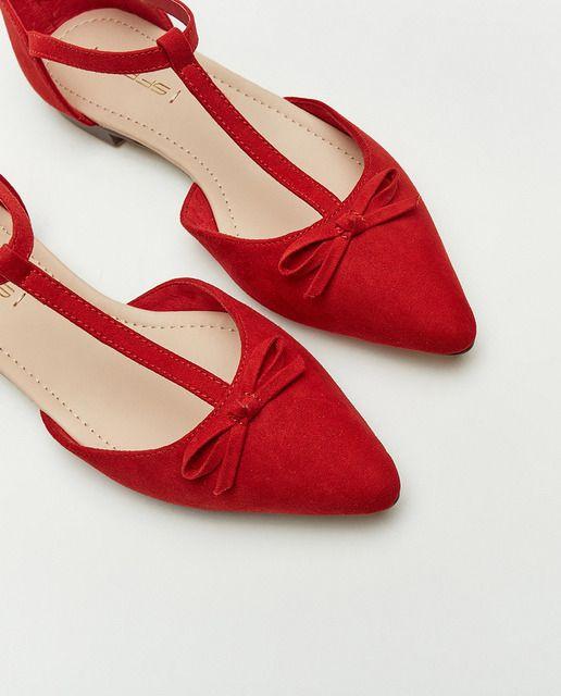 Zapatos planos de mujer Sfera en color rojo