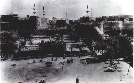 Holy City of Medinah, 1908, Hejaz  منظر عام للمدينة المنورة، عام ١٩٠٨م، الحجاز