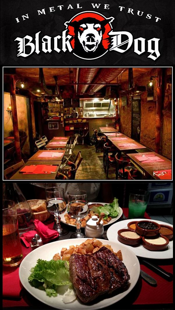 Black Dog Bar & Restaurant - 26 Rue des Lombards, 75004 Paris