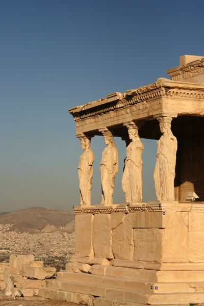 Erechtheion, Acropolis, #Greece -- ancient, yet still filled with power.  Get travel tips at http://www.examiner.com/article/experience-the-acropolis-and-the-grandeur-of-the-parthenon-and-erechtheum