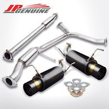 "4.5"" TIP BLACK 2.5"" PIPE MUFFER CATBACK EXHAUST - HONDA ACCORD V6 98-02"