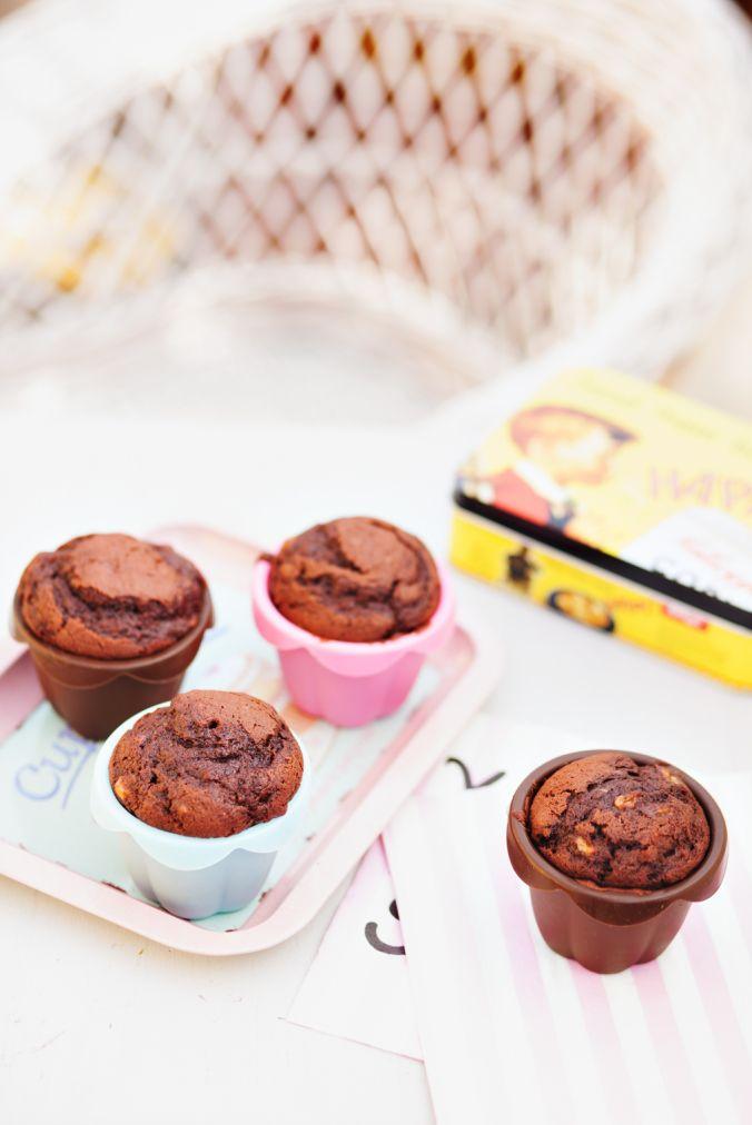 Banan chokolade muffins