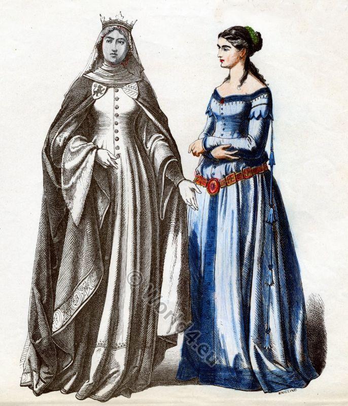 medieval fashion | Fashion German nobility 14tes century, Middle Ages Women`s Fashion ...