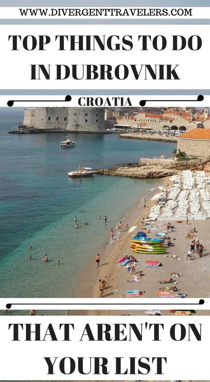 Top things to do in Dubrovnik Coratia that aren't on your list. We spent a week in Dubrovnik and fell in love with it immediately. There is so much to do and see in this town of just 28,000 people, and it's a great base for day tours along the coast, and across into Montenegro and Bosnia. Click to read 4 Day Dubrovnik Guide – Things to do in Dubrovnik. #TravelGuide #Travel #Dubrovnik #Coratia