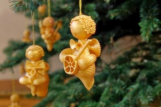 Christmas Craft : Creative Pasta Ornaments and More! These are great!!! Kids of all ages will love making ornaments for the tree. The kids will love making these and then giving them as gifts too!! :) kids Christmas crafts, pasta crafts