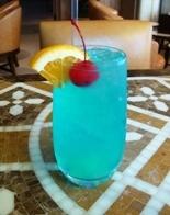 Electric Iced Tea - Long Island Iced Tea recipe with blue curaao instead of triple sec and sprite instead of coke.