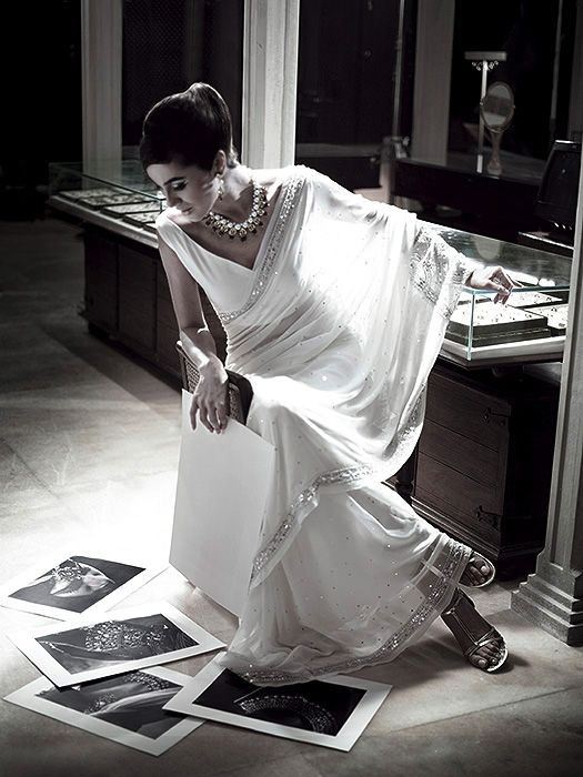 would love to wear one of my mom's white saris as a rehearsal dress