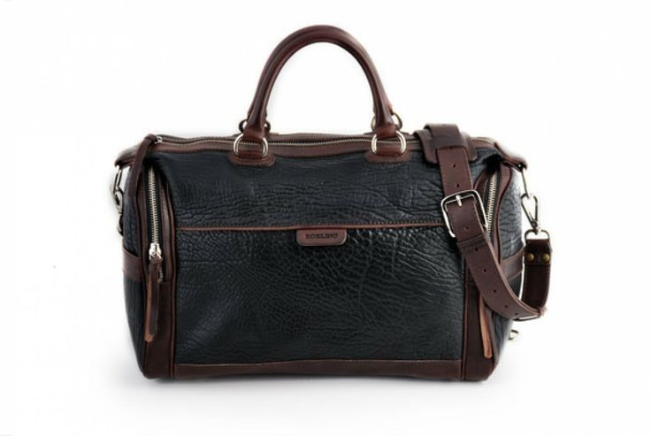 The One-Night-Stand Leather Duffel Bag  #borlino #style #leather #italy