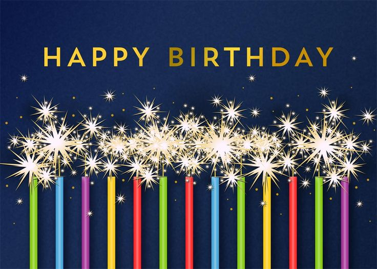 Blue Birthday Sparklers - Birthday from CardsDirect