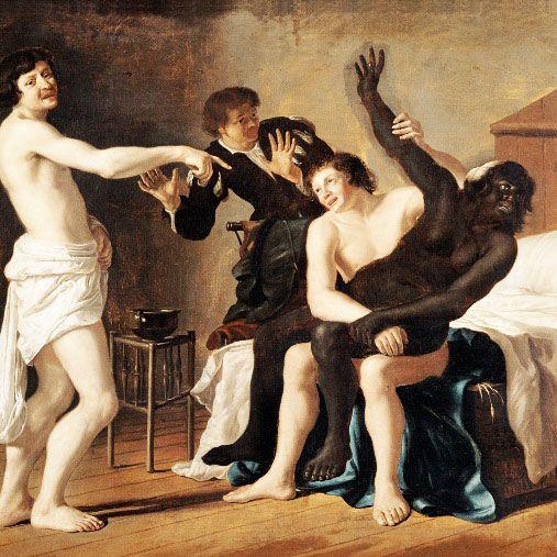 Le viol des Africaines et des Afro-descendantes par des Européens était un phénomène si répandu depuis la « découverte de l'Afrique » qu'un peintre flamand,  Christiaen van Couwenbergh  (1604-1667), en fit un tableau qui se trouve conservé en France au musée de Strasbourg.