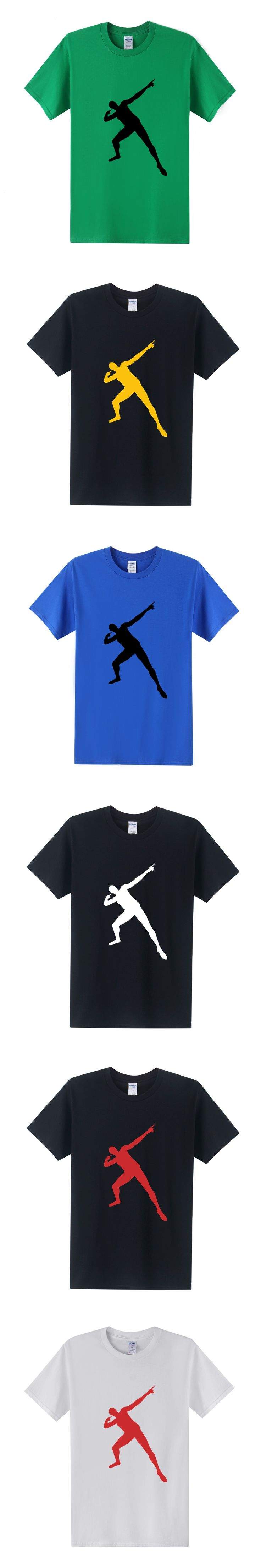 Men Usain Bolt Printed T Shirt Summer Style Fashion 2016 Short Sleeve O Neck Men Tees Shirt  Plus Size XS-3XL OT-225