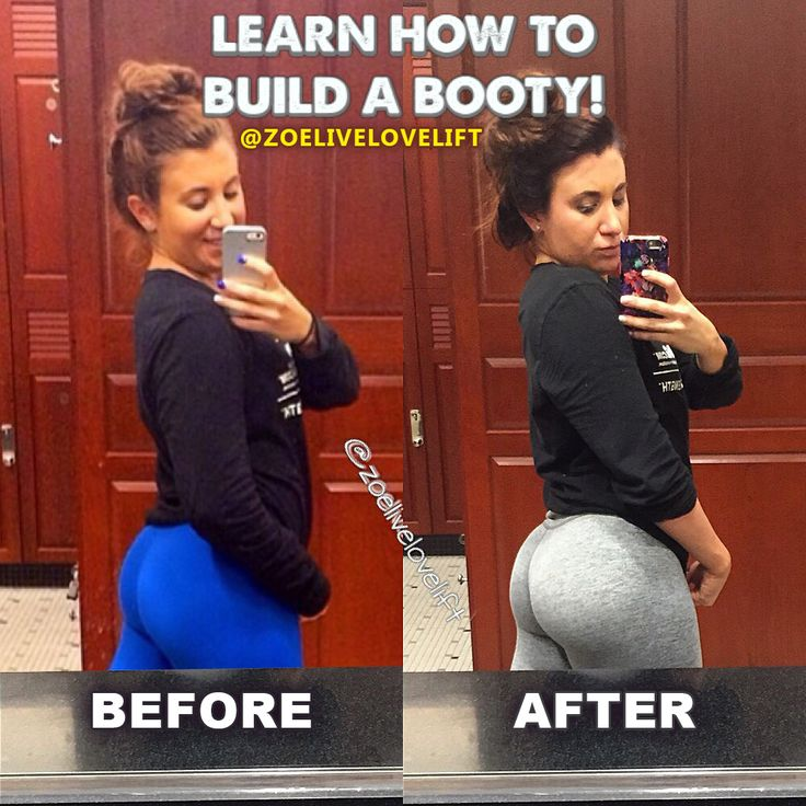 Check out the transformation from Zoe Rodriguez.  Learn how to build a booty from the expert herself.      https://www.pinterest.com/Zoelivelovelift/