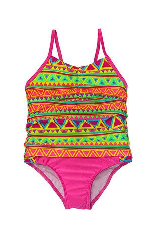 Girls Tribal Aztec Tankini