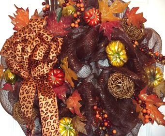 Fall Deco Mesh Wreaths: It's Fall Y'all!- Add some Southern Charm to