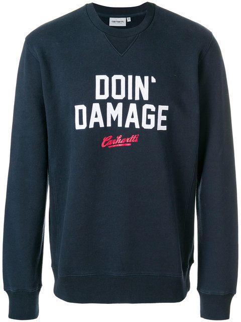 CARHARTT embroidered sweatshirt. #carhartt #cloth #