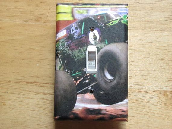 Grave Digger Monster Truck Photo Light Switch Plate Cover On Etsy, $5.00