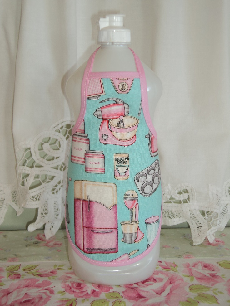 Image detail for -This Cute Little Apron will fit any Large Dish Soap Bottle.