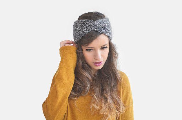 Knitwear and wool at DaWanda Headbands – Chunky Turban / Hand Knitted – a unique product by plexida on DaWanda
