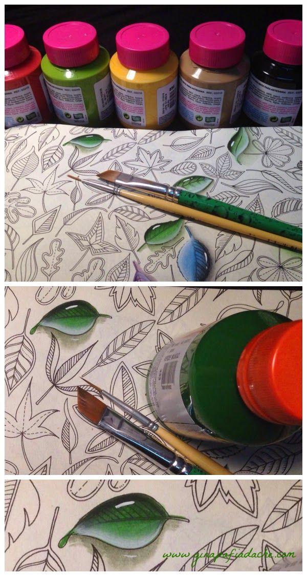 Atelier Gina Pafiadache: Jardim Secreto - Secret Garden - Pedrinhas de vidro!