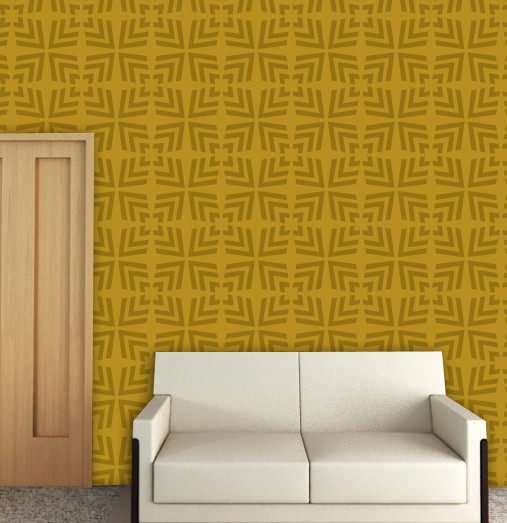 22 best Geometric Wall Painting Stencils images on Pinterest ...