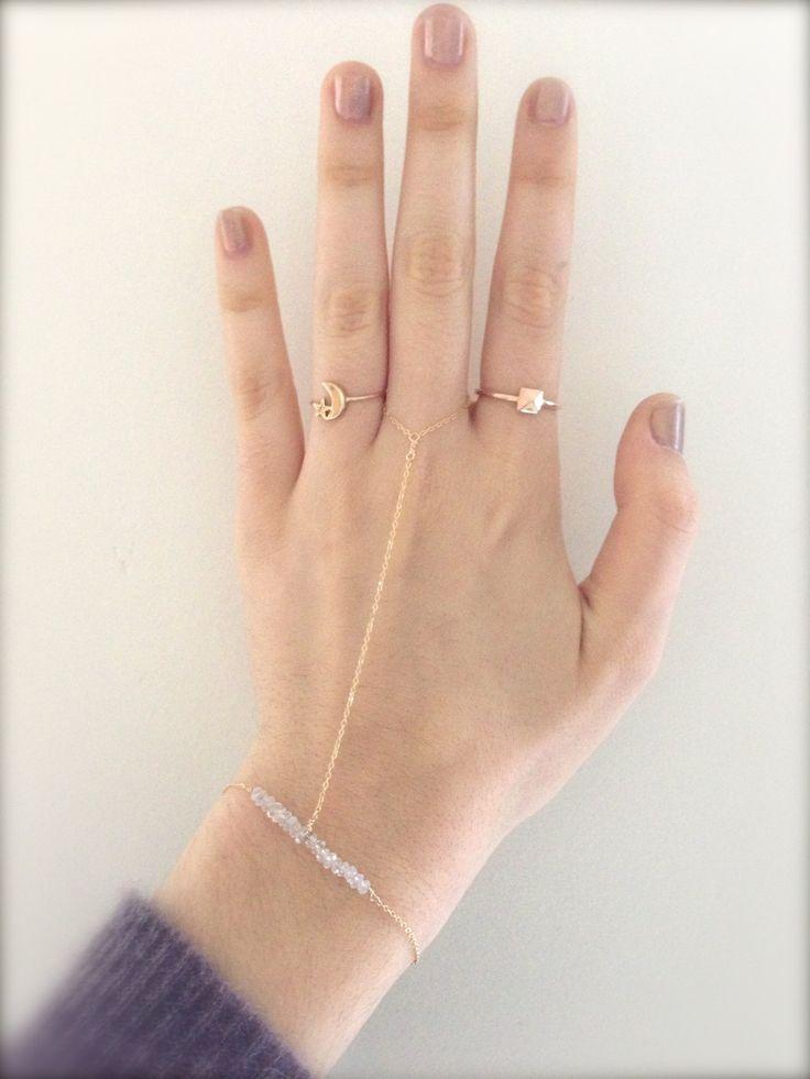 14k GOLD FILLED Slave Ring Bracelet with by MadelynJadeDesigns, $50.00