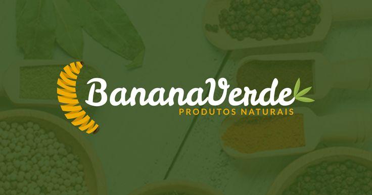 Logotipo Banana Verde | Loja de Produtos Naturais. Conheça outros trabalhos da Criando Logo.  www.criandologo.com.br #logo #logotipo #logomarca #criandologo #produtosnaturais