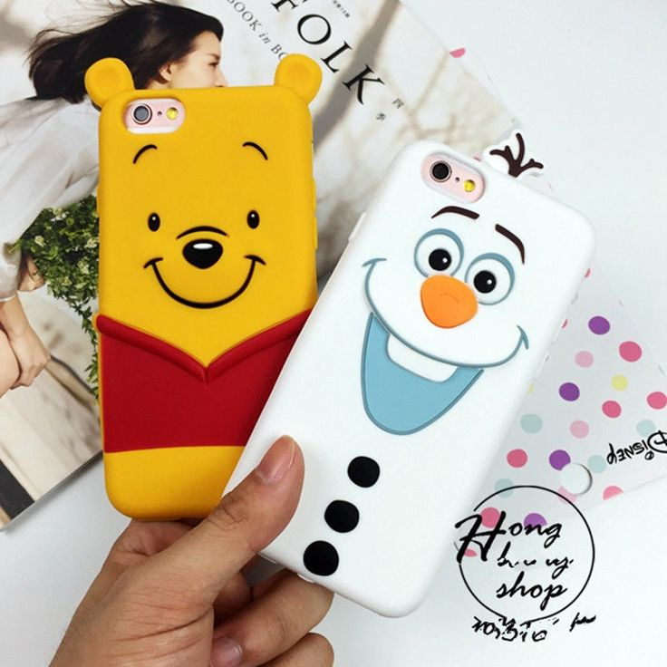 Cute 3D Cartoon Winnie Frozen Olaf Silicone Soft Case Cover for iPhone 6 6S Plus | eBay