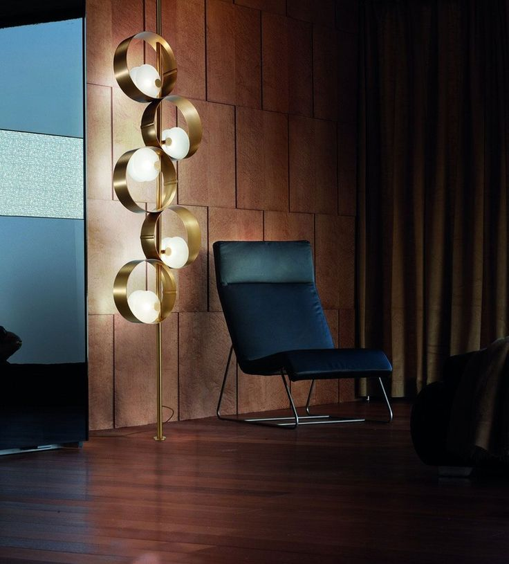 10 Lighting Highlights From Euroluce 2017 The Sound collection of metal lamps by Giovanni Battista Gianola for Masiero is inspired by the precise curves and shiny metal of the brass section of an orchestra.