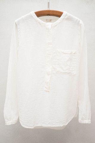 Pomandere White Henley Shirt $284.00