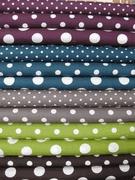 Kokka dots - love the purple, gray, dark turquoise :)