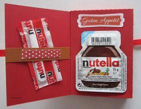 Lustige Idee Karte für schlechte Tage - Und wenn Du denkst es geht nicht mehr, löffle das Nutella leer *** Funny Bad Day Card with Mini Nutella