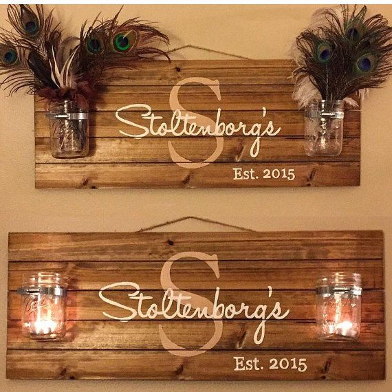 Personalized Rustic Wood Pallet Sign Family Name Sign