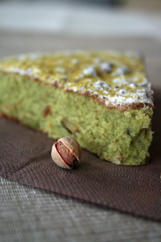 Moelleux à la pistache : remplacer la farine avec de la farine mix pâtisserie sans gluten