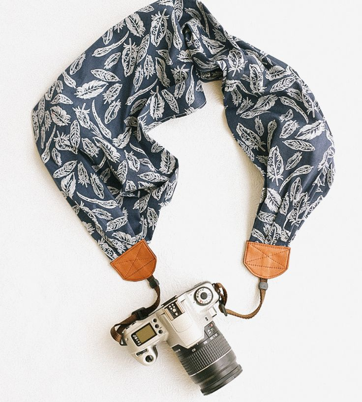 Free As A Bird Scarf Camera Strap by Bluebird Chic on Scoutmob
